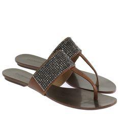 Sandália Rasteira Mini Strass Chocolate 0596 Boutique, Chocolate, Sandals, Shoes, Fashion, Exclusive Shoes, Wide Fit Women's Shoes, Rhinestones, Moda