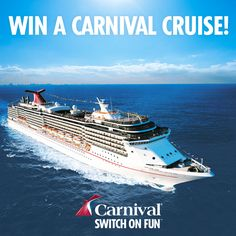 Carnival Cruises Lines #AllAboard competition opens today - enter now to WIN a cruise! #Competition #Cruise #Holiday #Travel