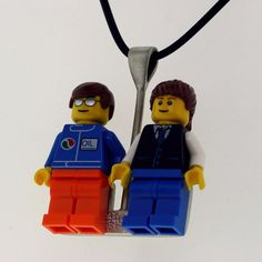 Lego Minifigure  Interchangeable   Minfigure  Sterling by UBrickIt, $79.00