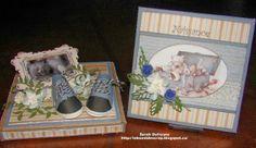 Ensemble Boitatou et mini-album. Création de Sarah Dufresne. Mini Albums, Drawer, Creations, Scrapbooking, Children, Handmade, Make A Map, Bebe, Cards