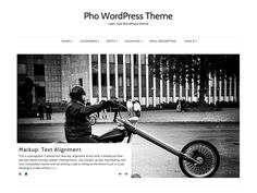 WordPress › Pho « Lean, fast WordPress theme