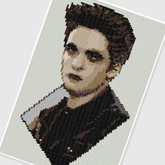 sandylandya@outlook.es PDF Cross Stitch pattern 0284.Edward Cullen (Twilight saga) Vampire Robert Pattinson by PDFcrossstitch