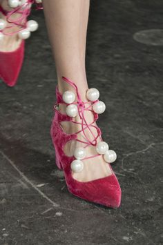 The Boldest Fall 2014 Footwear // Velvet & pearls at House of Holland Crazy Shoes, Me Too Shoes, Sock Shoes, Shoe Boots, Fly Shoes, Fashion Shoes, Fashion Accessories, Velvet Shoes, House Of Holland