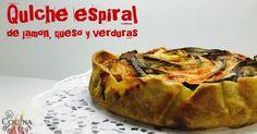 Quiche Ratatouille espiral de jamón, queso y verduras