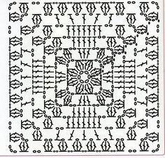 Crochet Granny Square Diagram Projects New Ideas Motifs Granny Square, Granny Square Crochet Pattern, Crochet Diagram, Crochet Chart, Crochet Squares, Crochet Granny, Filet Crochet, Crochet Doilies, Easy Crochet
