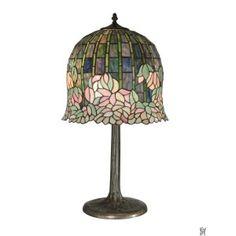 TIFFANY FLOWERING LOTUS REPLICA TABLE LAMP