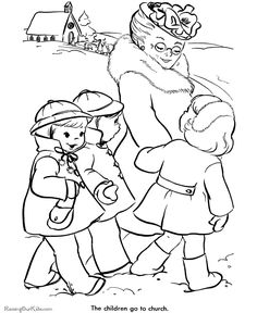 1000+ images about Christmas and Winter Coloring Pages on ...