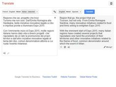 Google translate results - which match word for word with what is on the site