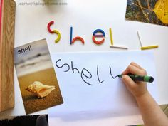 Learn with Play at home: Enticing literacy. Making and writing words with #spielgaben