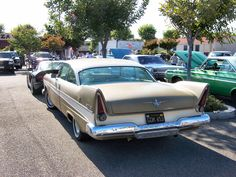 finally! a 1957 plymouth belvedere in the colors i remember! desert gold and sand dune white.