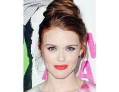 @Byrdie Beauty - Holland Roden, star of MTV's Teen Wolf and our latest glossy editorial, attends a premiere in Los Angeles.
