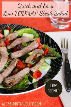 Quick and Easy Low FODMAP Steak Salad {gluten-free, dairy-free} - A Less Irritable Life