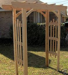 NEW DECORATIVE STYLE CEDAR GARDEN ARBOR PERGOLA ARCH ENTRY WAY I need one of these mine has seen it's better days!