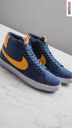 Classic colorways in a familiar look - get the new Nike SB BLazer Mid Inline! Skate Shoe Brands, Skate Shoes, Nike Sb, Basketball Sneaker, New Skate, Shoe Releases, Converse, Vans, Zapatos