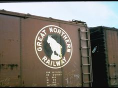 Railroad Box Car W. the Logo of the Great Northern Railway Premium Photographic Print Minneapolis, Wisconsin, Great Northern Railroad, Minnesota, West Glacier, Burlington Northern, Railroad Photography, Railway Posters, Rolling Stock