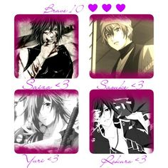 1. Saizo Kirigakure   2. Sasuke Sarutobi   3. Yuri Kamanosuke   4. Rokuro Unno   Fandom: Brave 10
