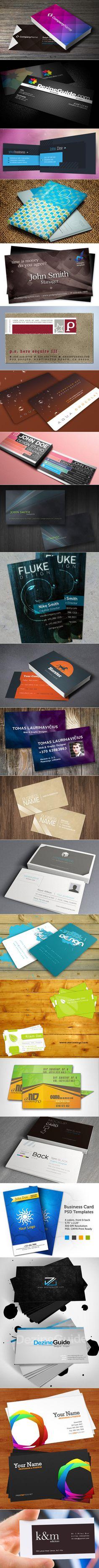 Business Card PSD Templates - #psd #photoshop #templates #design #freebies #resources - www.boostinspiration.com/resources/20-free-photoshop-business-card-templates/