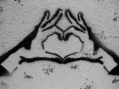 Heart to you Graffiti street Art Street Art Banksy, Graffiti Art, Stencil Graffiti, Stencil Art, Street Art Love, Amazing Street Art, Amazing Art, Urbane Kunst, Chalk Art