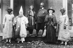 Halloween in 1925...just a tad creepy!  @Charity Weidauer , don't you have this picture in an old family album? :)