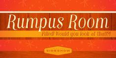 Rumpus Room Filled™ - Webfont & Desktop font « MyFonts