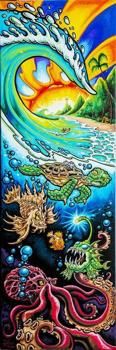 Drew Brophy Signature Surf Style Art - Drew Brophy - Surf Lifestyle Artist