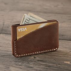 Fancy - Autumn Leather Card Holder