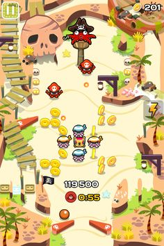 Your favorite cartoon pinball adventure game has just been updated to version I Love Games, Games To Play, Game Gui, Game Props, Game Concept Art, Ui Design Inspiration, Video Game Art, Indie Games, Mobile Game