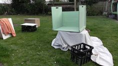 My dad's been helping me out building the set we are about to spray paint the sat down ready for printing