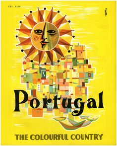 Portugal #tourism #poster by Tom (Thomaz de Melo) 1959