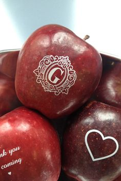 If your a health nut or on a tight budget, this is a great idea for a wedding favor - funtoeatfruit.com