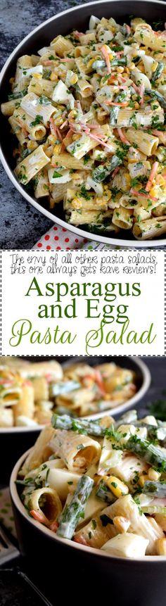 Asparagus and Egg Pasta Salad - Lord Byron's Kitchen #asparagus #egg #salad