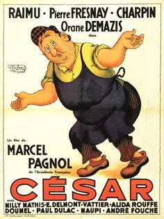 Cesar by Albert Dubout Cinema France, Albert Dubout, Grand Film, Film Mythique, Bon Film, Films Cinema, French Films, Illustrator, Nostalgia