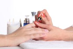 free stock photo Process of making manicure, a specialist is applying nail varnish - Nail, Nail Varnish, Girl, Hand