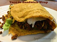 Ginny's Low Carb Kitchen: TACO OR SANDWICH WRAP