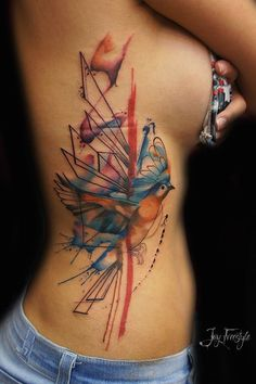 Abstract Bird On Girls Side