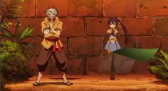 Lol yes! Wendy is picking up Natsu's ninja thing! :D :P