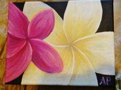 8x10 flower acrylic painting on canvas by AmandaPetrakis on Etsy, $70.00