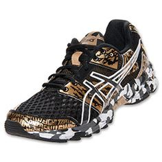 Women's Asics GEL-Noosa Tri 8 GR Running Shoes  | FinishLine.com | Black/Gold Metallic/White