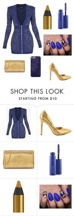 """Night Out🌙🔫🌉"" by fashion-designer-lover on Polyvore featuring Balmain, Liliana, Yves Saint Laurent, MAC Cosmetics and Urban Decay"