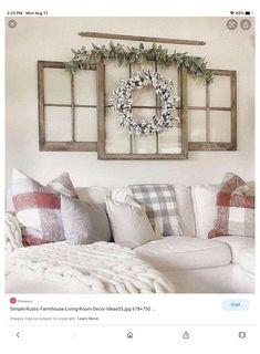 Small Living Rooms, Living Room Designs, Living Room Decor, Above Couch Decor, Apartment Decoration, Apartment Ideas, Country Farmhouse Decor, Modern Farmhouse, Farmhouse Style