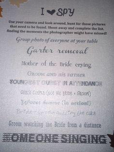 """""""I Spy"""" game to encourage photo taking"""