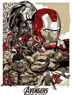 """Avengers - Age of Ultron - Simon Delart ---- The Poster Posse Gets Geeked Up For Marvel's """"Avengers: Age Of Ultron"""" Phase 1 Marvel Avengers, Marvel Comics, Films Marvel, Marvel Art, Marvel Heroes, Poster Marvel, Marvel Movie Posters, Age Of Ultron, Comic Books Art"""