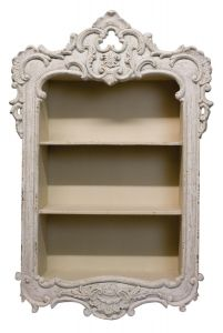French Country Ornate Framed Wall Shelf