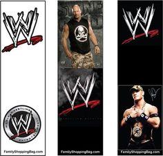 WWE Birthday Party Wrestling Theme Bookmarks