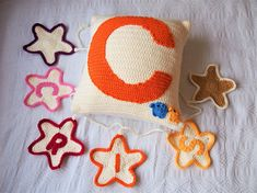Personalised bunting and cushion gift set discounted set Personalised Bunting, Personalized Pillows, Monogram Pillows, Monograms, Gifts For Kids, Gift Guide, Kids Room, Cushions, Unique Jewelry