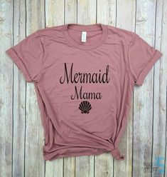mermaid mama, mermom shirt, mother of mermaids, mermaid mom, mermaid mom shirt, mermaid mama shirt, mermama shirt, mermaid shirt You wont want to take off this irresistibly soft unisex tee, featuring a uniquely soft fabrication, modern fit, crew neck and short sleeves.