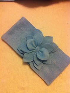 No-sew Fleece Flower Headband