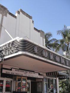 Art Deco cinema, South Beach, Miami.