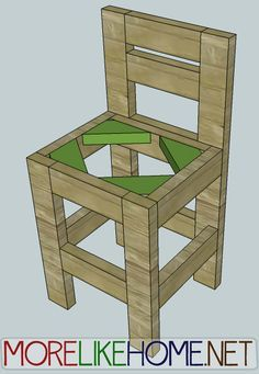 Day 23 - Build a Chunky Bar Stool Pallet Bar Stools, Diy Bar Stools, Diy Stool, Diy Chair, Diy Furniture Plans, Pallet Furniture, Rustic Furniture, Chunky Bar, Furniture Stores Nyc