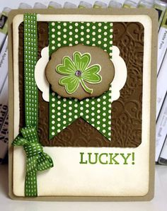 Stampin' Up! Card  by Stamp 4 fun with Selene Kempton: St Patricks Day Card